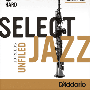 Rico RRS10SSX3H Select Jazz Soprano Saxophone Reeds, Unfiled - Strength 3 Hard (10-Pack)