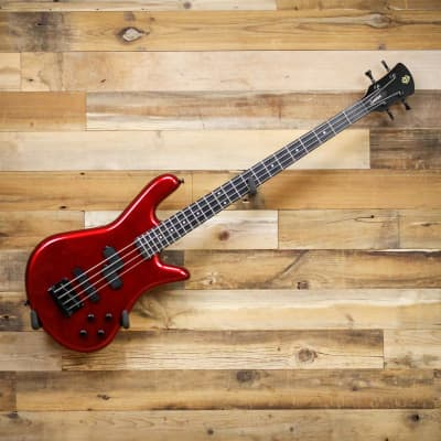 Spector PERF4MRD Performer 4 4-String Electric Bass Guitar Metallic Red for sale