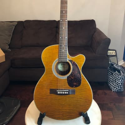 Gitano ATK50  All solid wood Tiger Stripe Acoustic Electric Guitar for sale