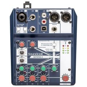 Soundcraft Notepad-5 5-Channel Analog Mixer