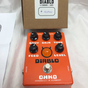 OKKO Pedals Diablo Overdrive Pedal Standard-Excellent Condition for sale