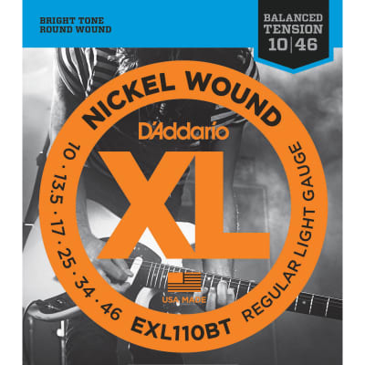 D'Addario EXL110BT Nickel Wound Electric Guitar Strings, Balanced Tension Regular Light Gauge