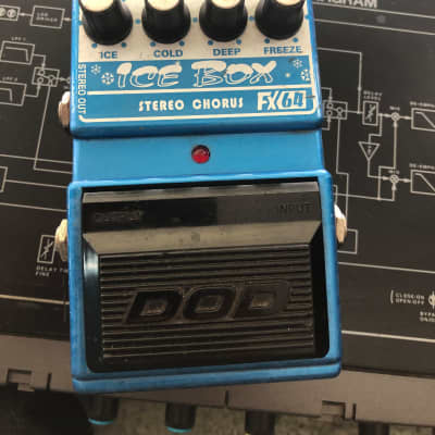 DOD Ice Box FX64 Stereo Chorus pedal- Lamb version Blue for sale