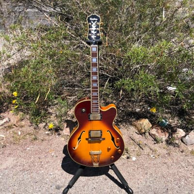 Epiphone Joe Pass Semi Hollow Body Archtop Electric Guitar with Case Made in Korea
