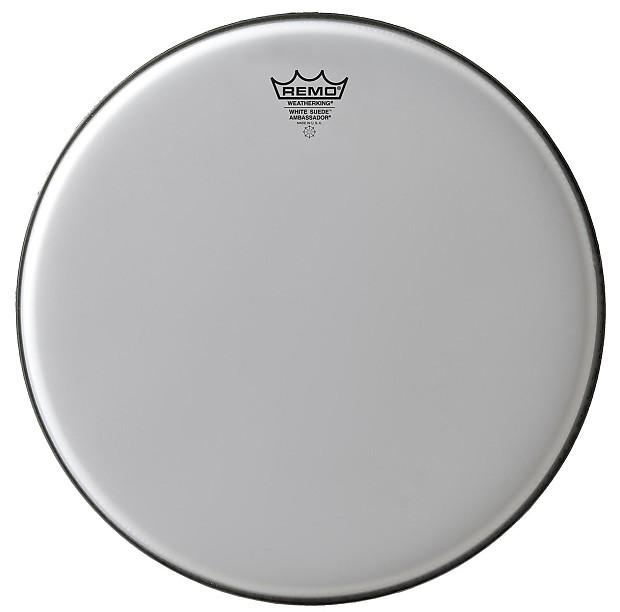 remo snare drum tom heads white suede ambassador 12 reverb. Black Bedroom Furniture Sets. Home Design Ideas