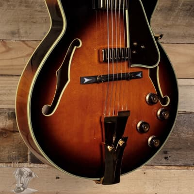 Ibanez GB10 George Benson Hollow Body Brown Sunburst Electric Guitar w/ Case for sale
