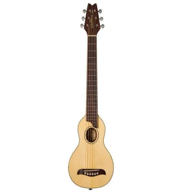 Washburn RO10 Rover Steel String Travel Acoustic Guitar Natural