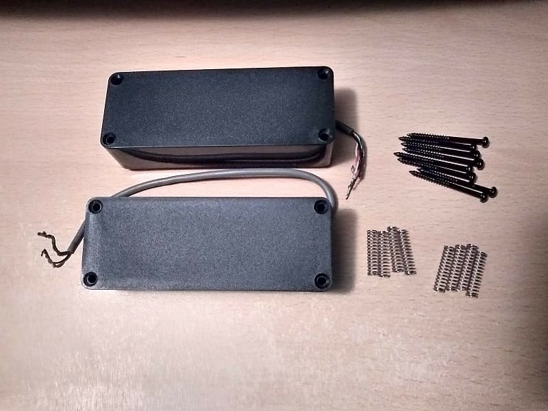 5 string bass guitar soapbar humbucker pickups passive set reverb. Black Bedroom Furniture Sets. Home Design Ideas