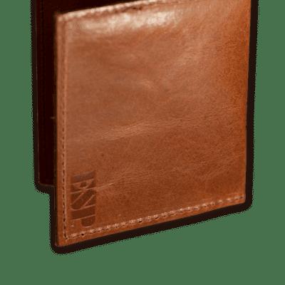 ESP Genuine Leather Pick Wallet Cognac