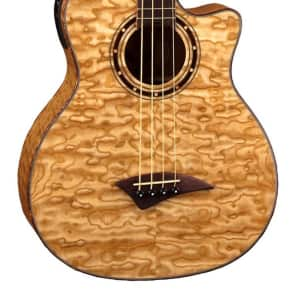 Dean Exotica Quilt Ash Acoustic/Electric Bass, DMT Preamp, Natural, EQABA GN for sale