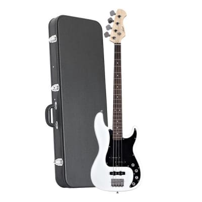 Artist Vintage Hybrid P-J styled Bass White + Case for sale