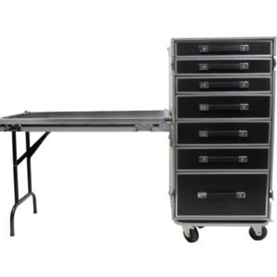 OSP PRO-WORK Utility Case with 7 Drawers and Standing Lid Table image