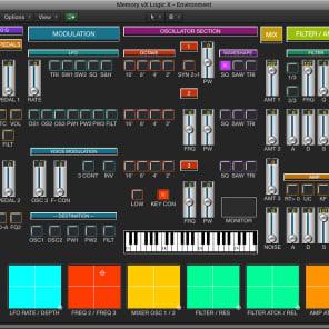 Virtual editor / programmer - MEMORYMOOG LAMM - LOGIC v4 - X