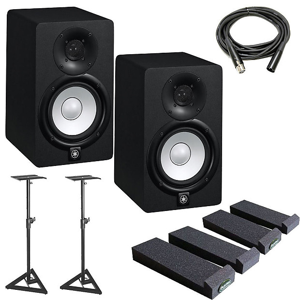 Yamaha hs5 5 inch powered studio monitor w stands for Yamaha studio monitors hs5