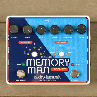 Electro-Harmonix Deluxe Memory Man with Tap Tempo 1100ms USED