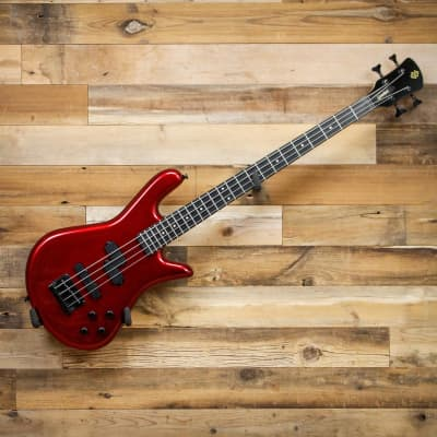 Spector PERF4MRD Performer 4 Electric Bass Guitar Metallic Red 4-String for sale