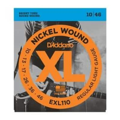 D'Addario EXL110 Nickel Wound Electric Guitar Strings - Regular Light 10-46