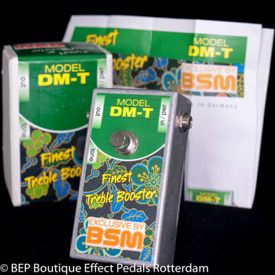 BSM DM-T Treble Booster s/n 2219 NOS Germanium Transistors  tribute to 60's Winston Treble Booster