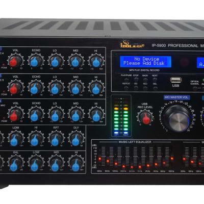 IDOLmain IP-5900 Professional 6000W Karaoke Mixing Amplifier/w Echo & Delay Control, Optical/HDMI