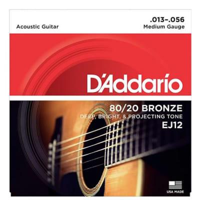 D'Addario EJ12 80/20 Bronze Medium Acoustic Guitar Strings