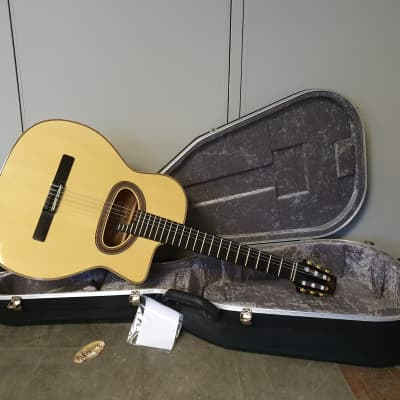 "JWC-Guitars Maccaferri D hole ""Concert"" Model Flamed Maple Gypsy Jazz Guitar for sale"