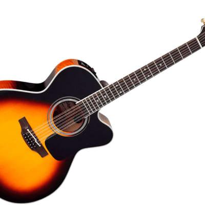 Takamine P6JC-12 BSB Pro Series 6 12-String Jumbo Cutaway Acoustic/Electric Guitar Brown Sunburst Gloss