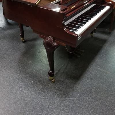 Sojin Baby Grand Piano   Polish Cherry Queen Anne Styling SN G027164
