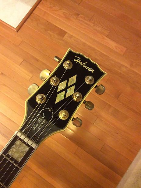 Rare Hohner Les Paul 1970s Black Electric Guitar Reverb