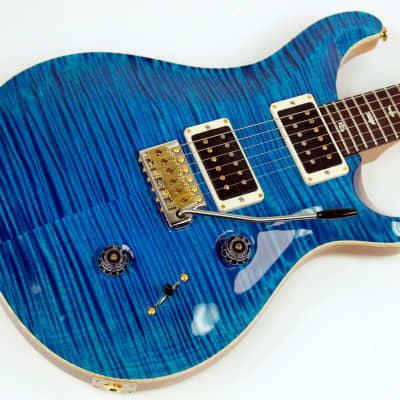 PRS Custom 24 10 Top Electric Guitar Aqua Marine, Hsc, New #ISS7517 for sale