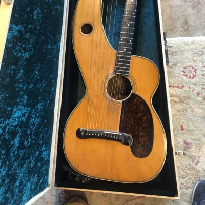 Dyer Style 6 Harp Guitar 1914 natural for sale