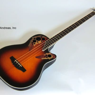 Ovation 4-String Acoustic Electric Bass Guitar Celebrity Mid-Depth Body for sale