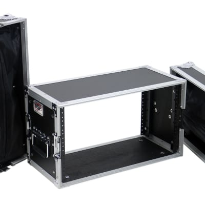"""OSP 6 Space 10"""" Deep ATA Effects Rack Road Case for Wireless Systems"""