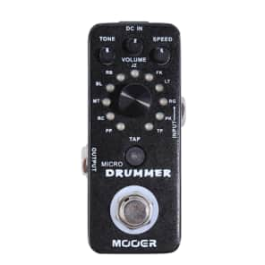Mooer Micro Drummer 11 genres / of 11 patterns of 121 drumbeats built-in tap tempo Free US Shipping