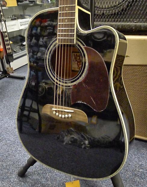 washburn oscar schmidt og acoustic guitar black reverb. Black Bedroom Furniture Sets. Home Design Ideas