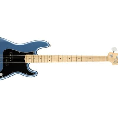 Fender American Performer Precision Electric Bass (Satin Lake Placid Blue, Maple Fingerboard) (Used/Mint)