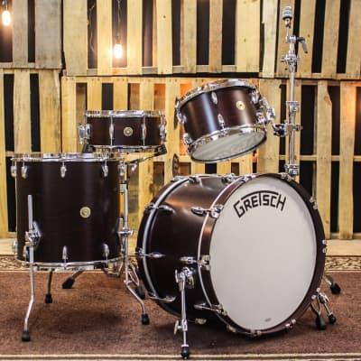 Gretsch Broadkaster Satin Walnut Drum Set - 14x22, 8x12, 16x16, 6.5x14