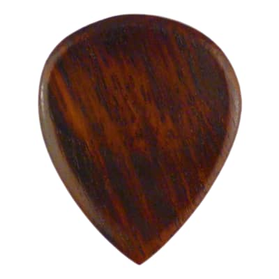 Rosewood Natural Polished Finish Guitar Pick - Handmade Specialty Wood Exotic Plectrum - 6 Pack New