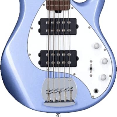 Sterling by Music Man StingRay5 HH   Lake Blue Metallic