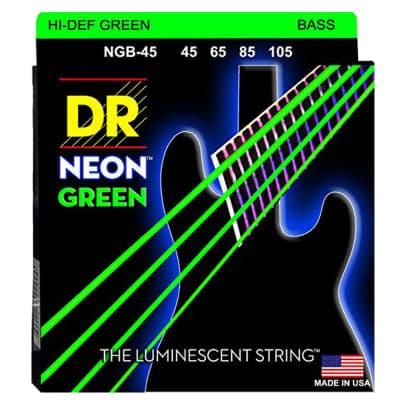 DR Strings NGB-45 Hi-Def Neon Green Bass Strings