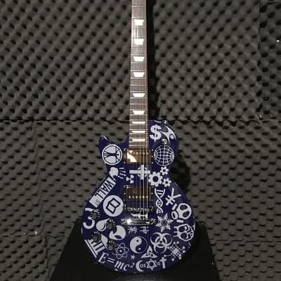Gibson Les Paul '70s Tribute 2013 Blue New World Order with Bareknuckle Black dog Humbuckers for sale