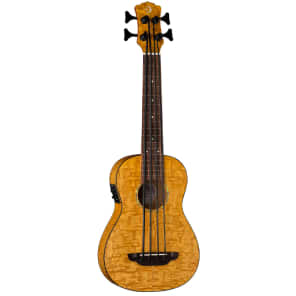 Luna UKE-BBASS-QA Quilt Top Bari-Bass Ukulele with Preamp
