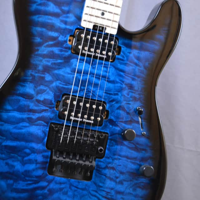Charvel San Dimas Style II 2018 Quilted Transparent Blue *Free Shipping* image