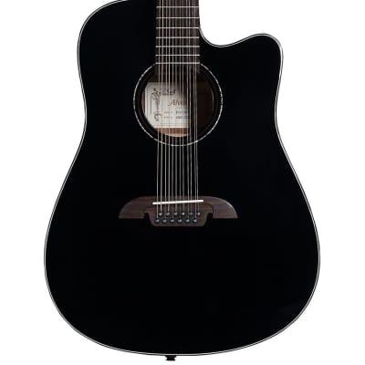 Alvarez Artist Series AD60-12CEBK 12 String Acoustic-Electric Dreadnought Guitar Black