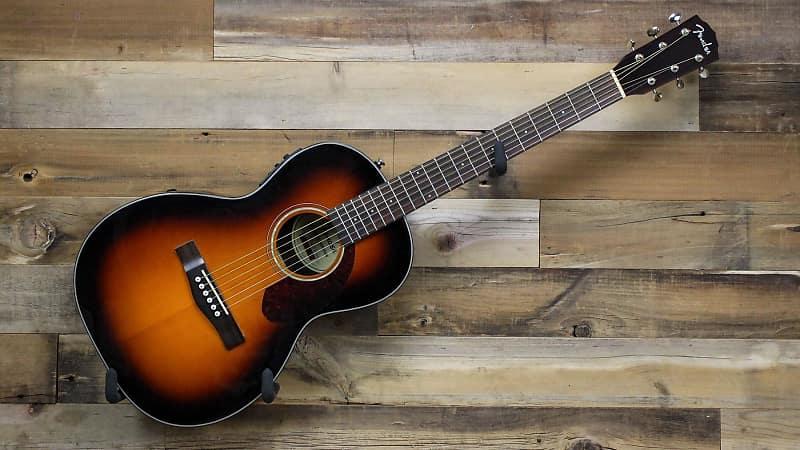40b1d54fe2a Description; Shop Policies. This used Fender CP-140SE Parlor Acoustic-Electric  Guitar ...