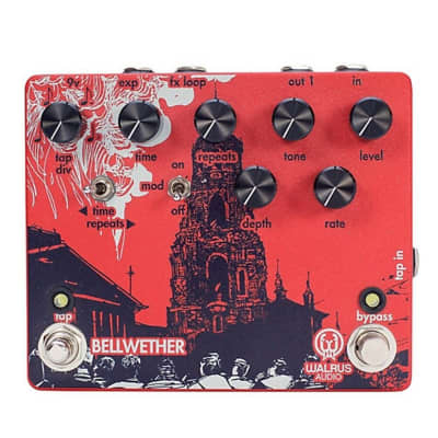 Walrus Audio Bellwether Analog Delay with Tap Tempo Guitar Effects Pedal for sale