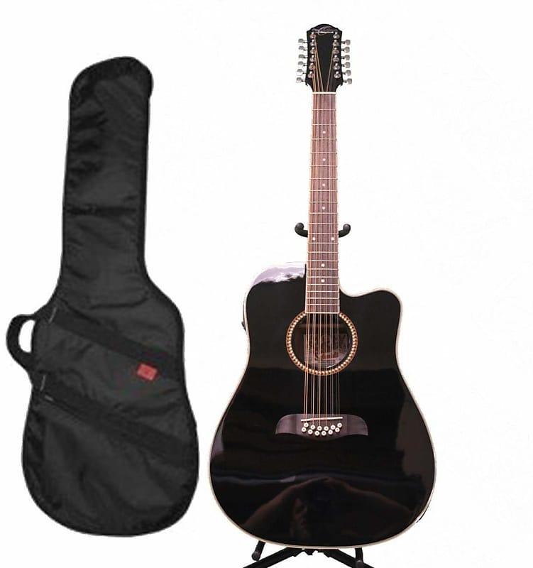 oscar schmidt od312ceb black 12 string dreadnought guitar reverb. Black Bedroom Furniture Sets. Home Design Ideas