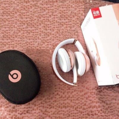 NIB Beats by Dr Dre Solo3 Solo 3 Bluetooth Wireless MPN# MNET2LL/A 2017 Rose Gold