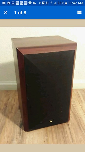 Acoustic Research AR15 AR 15 Hi Res Single Bookshelf Monitor Audiophile Speaker Cherry