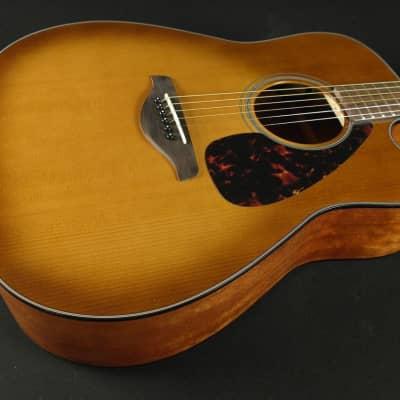Yamaha FGX800C SDB Solid Top Cedar Acoustic/Electric Guitar - Sand Burst (421) for sale