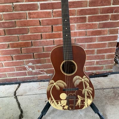 May Bell by Slingeland Parlor Guitar 1930s Hawaiian Stencil for sale